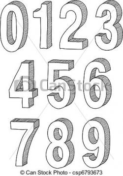 Drawn number illustration
