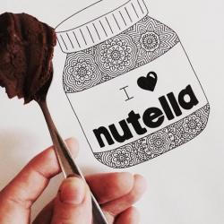 Drawn nutella artsy