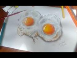 Drawn nutella fried egg