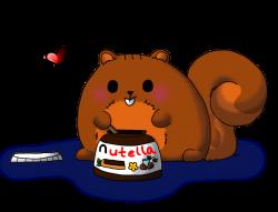 Drawn nutella squirrel