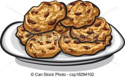 Biscuit clipart oatmeal raisin cookie