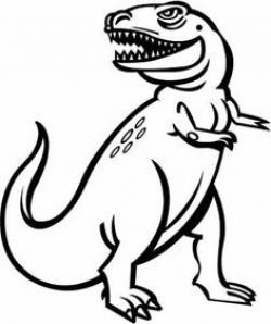 Drawn mockingbird dinosaur