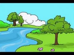 Drawn scenic nature