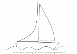 Drawn yacht dinosaur