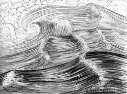 Drawn sea