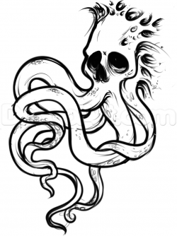 Drawn tentacle face
