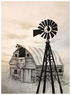 Drawn windmill