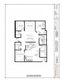 Drawn office floor plan design