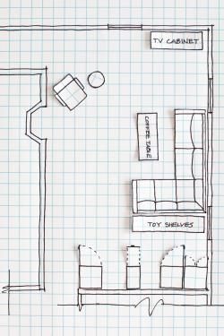 Drawn sofa architectural drawing