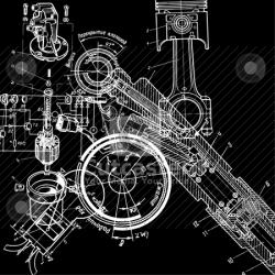 Mechanical clipart abstract