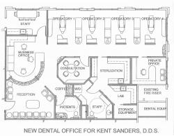 Drawn office office interior