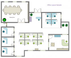 Drawn office office layout