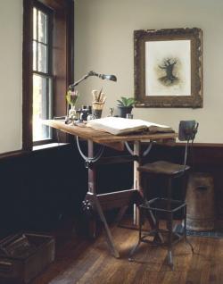 Drawn planks desk
