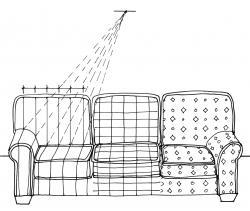 Drawn sofa sketch
