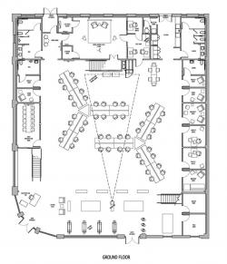 Drawn office plan drawing