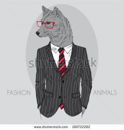Drawn office suit