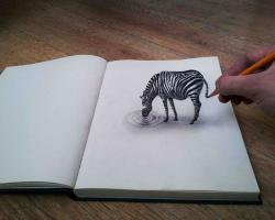 Drawn optical illusion allusion