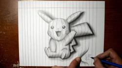 Drawn pikachu pencil drawing