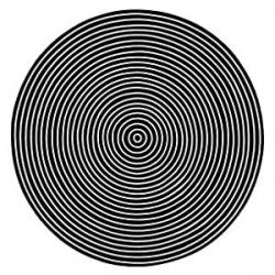 Drawn optical illusion circle