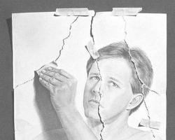 Drawn optical illusion creative