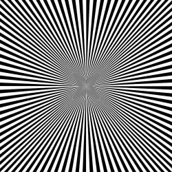 Drawn optical illusion deep