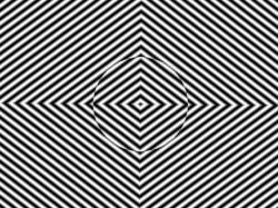 Drawn optical illusion distortion