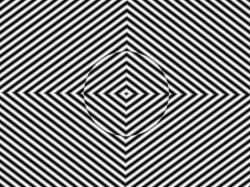 Drawn optical illusion distortion