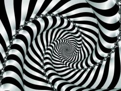 Drawn optical illusion dizzy