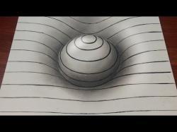 Drawn optical illusion easy draw