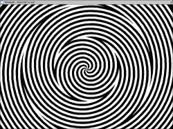 Drawn optical illusion eye trick