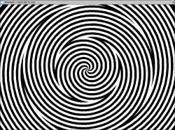 Drawn optical illusion eye trick