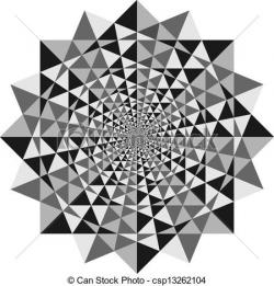 Drawn optical illusion geometric
