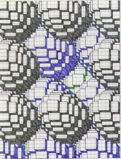 Drawn pixel art graph paper