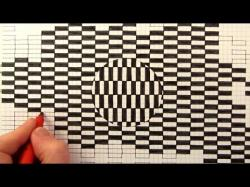 Drawn optical illusion graph paper