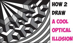 Drawn optical illusion graphic