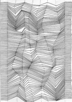 Drawn contrast optical illusion