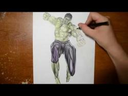 Drawn optical illusion hulk
