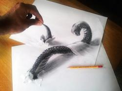 Drawn optical illusion mind bending
