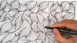 Drawn optical illusion optical design