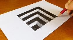 Drawn optical illusion paper for kid