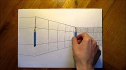 Drawn optical illusion pencil drawing