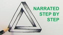 Drawn illuminati impossible triangle