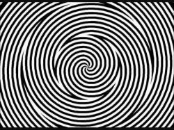 Drawn optical illusion trippy