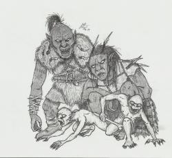 Drawn orc androgynous