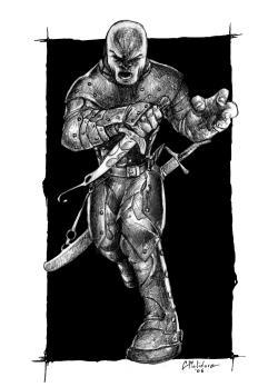 Drawn orc assassin