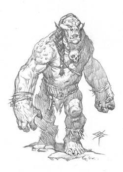 Drawn orc brutal