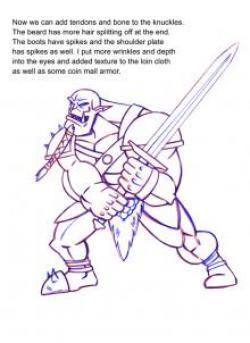 Drawn orc drawing