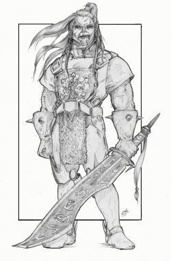 Drawn orc half orc
