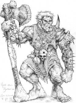 Drawn orc pathfinder