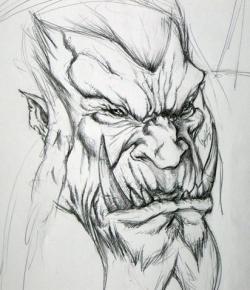 Drawn orc realistic
